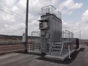 環境放射線モニタリングポスト局舎(シェルター)