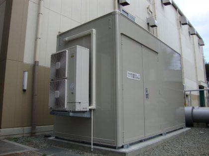 バイオマス発電設備向けインバータ盤収容局舎