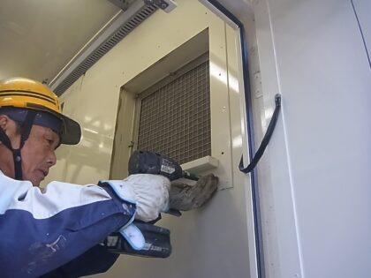 塵(ちり)侵入を低減・防止する吸気フード改造工事